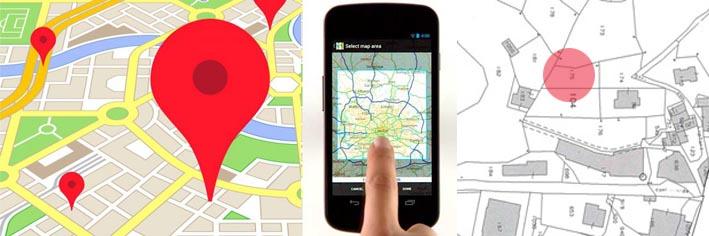 mappa+google+smatphone+catastale